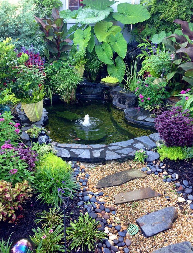 laghetto piccolo giardino