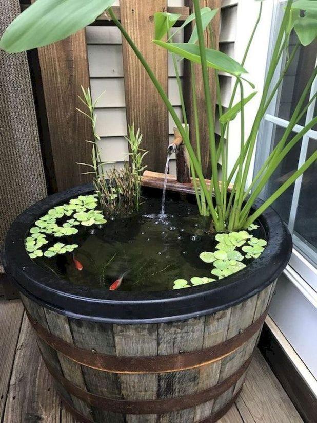 mini stagno piccolo giardino progettazione
